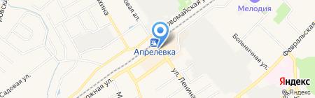 Киоск по продаже печатной продукции на карте Апрелевки