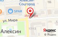 Схема проезда до компании Шельфпром в Алексине