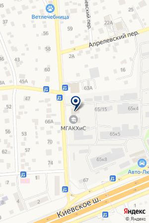 МАГАЗИН АВТОЗАПЧАСТЕЙ АВТО-ЛЮКС на карте Наро-Фоминска