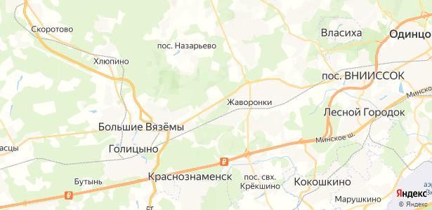 Жаворонки на карте