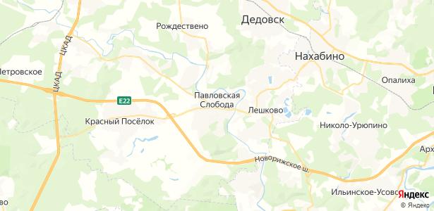 Павловская Слобода на карте