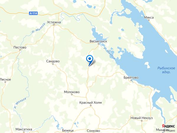 деревня Большое Фоминское на карте