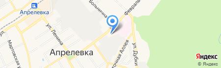 Магазин автозапчастей на Февральской на карте Апрелевки