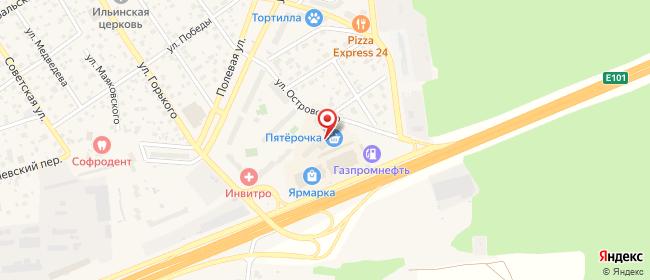 Карта расположения пункта доставки Апрелевка Островского в городе Апрелевка