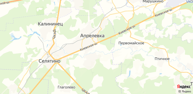 Малые Горки на карте