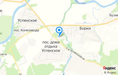 Местоположение на карте пункта техосмотра по адресу Московская обл, г Одинцово, с Успенское, ш 1-е Успенское, влд 2 стр 2