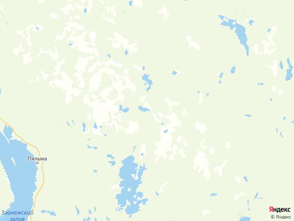поселок Луза на карте