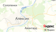 Санатории города Алексин на карте