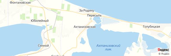 Ахтанизовская на карте