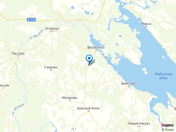 деревня Барское Александрово на карте