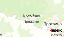 Гостиницы города Кременки на карте