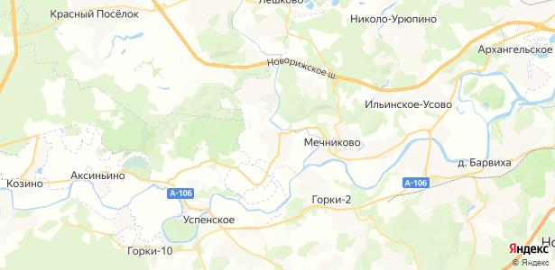 Дмитровское на карте