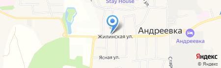 Разгуляй на карте Андреевки