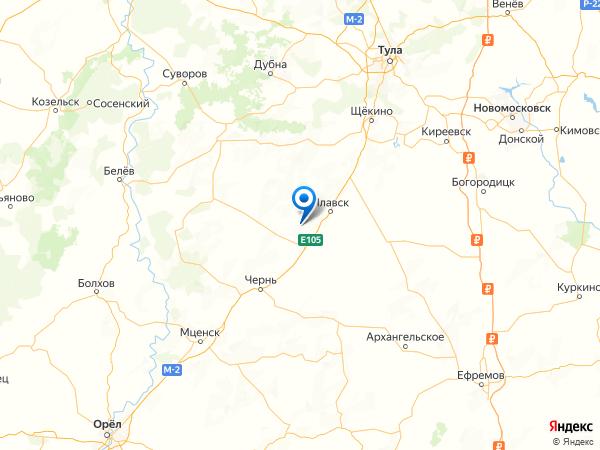 село Михайловское на карте