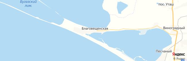 Благовещенская на карте