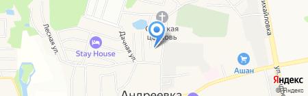 Андреевская ривьера на карте Андреевки