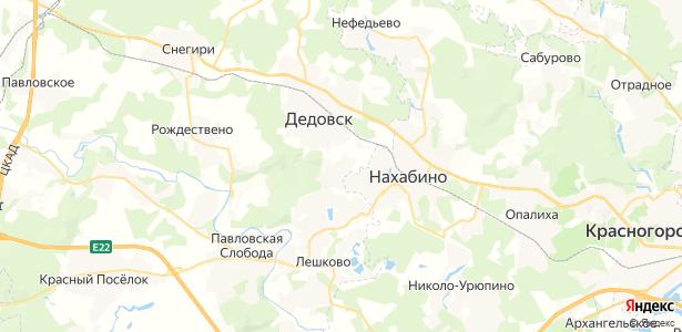Чёрная на карте