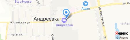 Смена на карте Андреевки