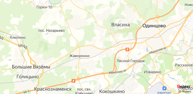 Перхушково на карте
