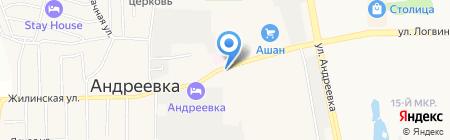 Продуктовый магазин на ул. Андреевка пос на карте Андреевки