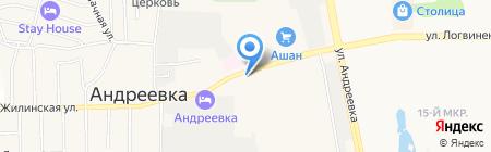 Киоск фастфудной продукции на карте Андреевки