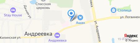Станция на карте Андреевки