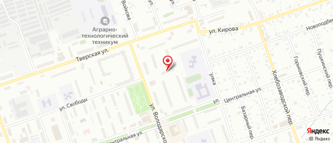 Карта расположения пункта доставки Билайн в городе Дубна