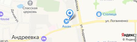 Subway на карте Андреевки