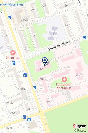 ПОЛИКЛИНИКА ДУБНЕНСКАЯ ЦЕНТРАЛЬНАЯ БОЛЬНИЦА на карте Дубны
