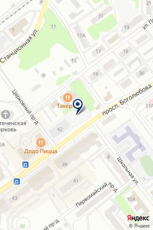 МАГАЗИН АВТОЗАПЧАСТИ на карте Дубны