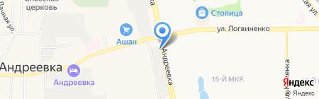 Манюня на карте Андреевки