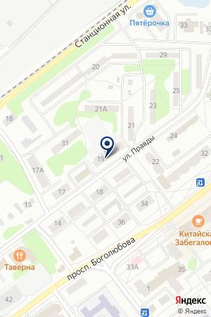 ПАРИКМАХЕРСКАЯ ХАМЕЛЕОН на карте Дубны