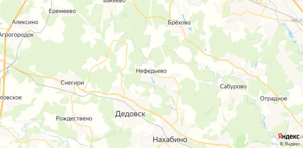 Нефедьево на карте