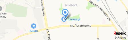 Евровидео на карте Москвы