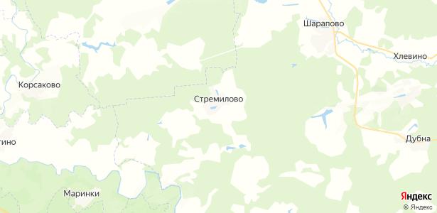 Стремилово на карте