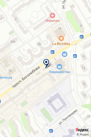 МАГАЗИН БЫТОВЫХ ИНСТРУМЕНТОВ АНТЕЙ на карте Дубны