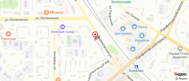Карта расположения пункта доставки 220 вольт в городе Зеленоград