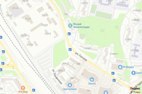 Ремонт телевизоров Улица Гоголя на яндекс карте