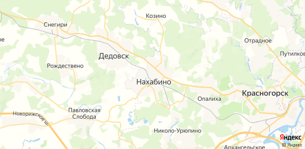 Нахабино на карте