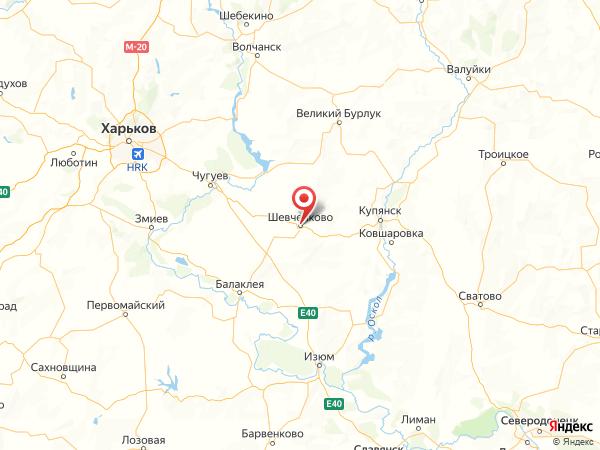 поселок городского типа Шевченково на карте