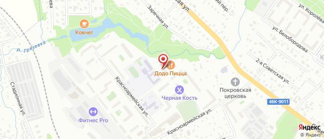 Карта расположения пункта доставки Нахабино Красноармейская в городе Нахабино