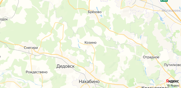 Козино на карте