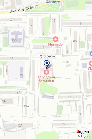 НАХАБИНСКАЯ БОЛЬНИЦА на карте Красногорска