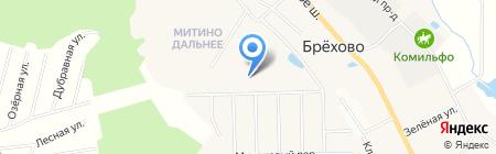 Митино Дальнее на карте Брёхово