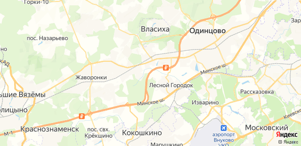 Крюково на карте