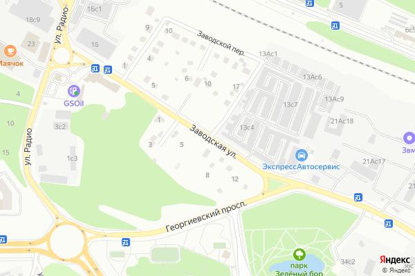 Ремонт телевизоров Улица Заводская на яндекс карте
