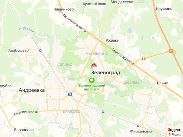 Карта город Зеленоград