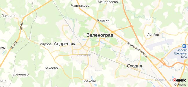 Гостиницы и Отели Зеленограда с питанием - объекты на карте