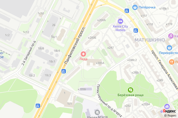 Ремонт телевизоров Район Матушкино на яндекс карте