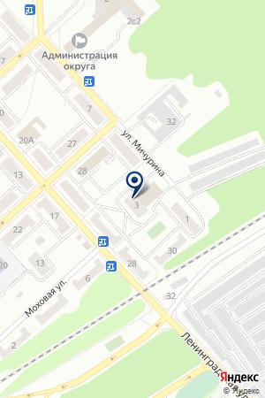 МАГАЗИН ХОЗТОВАРОВ ЛОТОС на карте Дубны